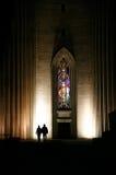 Het paarsilhouet van de nacht Royalty-vrije Stock Afbeeldingen