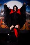 Het paarvampier van Halloween royalty-vrije stock foto's