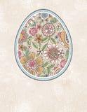 Het paasei met de lente bloeit, vector stock illustratie