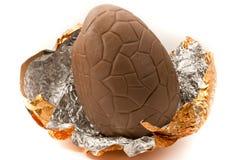 Het paasei van de chocolade Stock Afbeelding