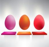 Het paasei van de kleur Stock Afbeeldingen