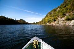 Het paddelen op het meer Royalty-vrije Stock Foto