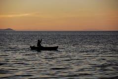 Het paddelen op Meer Malawi royalty-vrije stock foto's