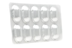 Het pak van de aluminiumblaar voor de capsules van drugpillen royalty-vrije stock afbeeldingen