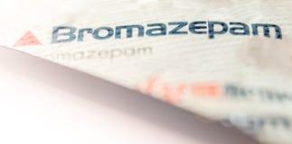 Het pak van de Bromazepamblaar stock fotografie