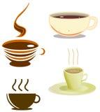 Het Pak van de Koppen van de koffie Royalty-vrije Stock Afbeeldingen