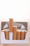 Het Pak van de sigaret Stock Afbeeldingen