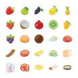 Het Pak van voedselingrediënten Stock Afbeeldingen