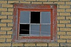 Het pakhuis brooken venster Royalty-vrije Stock Afbeelding