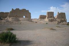 Het pakhuis van Guan van Yumen, de woestijn van Gobi, Dunhuang China royalty-vrije stock foto