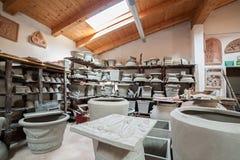 Het pakhuis van terracottaproducten Stock Foto