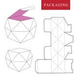 Het pakket van het fruitconcept Vectorillustratie van doos pakketmalplaatje stock illustratie