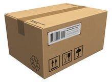 Het pakket van het karton Stock Afbeeldingen