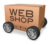 Het pakketlevering van Webshop Royalty-vrije Stock Afbeeldingen
