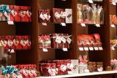 Het pakketproducten van de chocoladegift in opslag Royalty-vrije Stock Fotografie