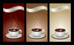 Het pakketreeks van de koffie Stock Foto's