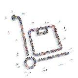 Het pakketvervoer van de mensendoos Stock Afbeelding