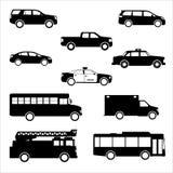 Het pakvector van het voertuigpictogram Royalty-vrije Stock Afbeeldingen