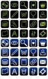 Het pakzwarte en blauw van het pictogram Stock Illustratie