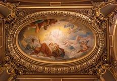 Het Palais Garnier, Opera DE Parijs, architecturale details stock foto