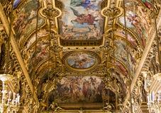 Het Palais Garnier, Opera van Parijs, binnenland en details Stock Afbeelding
