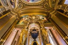 Het Palais Garnier, Opera van Parijs, binnenland en details Stock Foto's