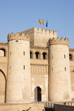 Het paleis Aljaferia in Zaragoza Royalty-vrije Stock Foto