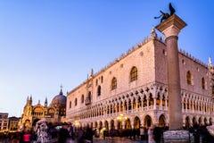 Het Paleis en St van de doge de Basiliek van het Teken in Venetië, Italië royalty-vrije stock foto