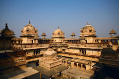 Het Paleis India van Orchha Stock Foto's