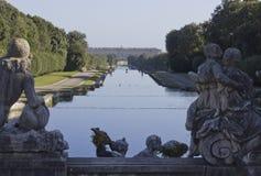 Het Paleis Koninklijke Tuin van Caserta Stock Afbeelding