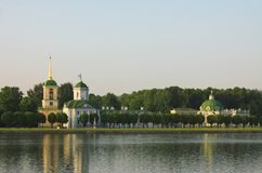 Het paleis in Kuskovo Stock Afbeelding