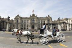 Het paleis lima Peru van de overheid stock afbeelding