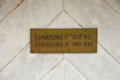 Het paleis Mahandrihono en koninklijke graven op de Koninklijke heuvel royalty-vrije stock fotografie