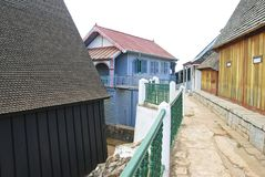 Het paleis Mahandrihono en koninklijke graven op de Koninklijke heuvel royalty-vrije stock foto