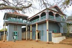 Het paleis Mahandrihono en koninklijke graven op de Koninklijke heuvel Ambohi royalty-vrije stock fotografie