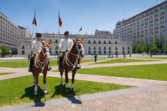 Het paleis Moneda in Santiago van Chili Stock Afbeeldingen