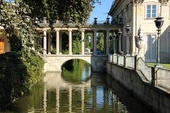 Het paleis op het Water of Paleis Lazienki. Warshau. Polen. stock foto
