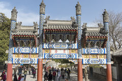 Het Paleis Peking van de Zomer van de poort stock afbeeldingen