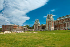 Het paleis in Tsaritsino, Moskou, Rusland Stock Foto's