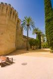 Alcazar DE los Reyes Cristianos Engelse het landschap bestelwagen Cordoba, SP Stock Afbeeldingen