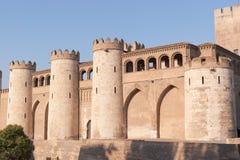 Het Paleis van Aljaferia in Zaragoza Stock Afbeelding
