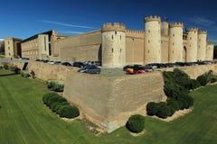 Het Paleis van Aljaferia in Zaragoza Stock Afbeeldingen