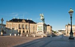 Het Paleis van Amalienborg in Kopenhagen Stock Foto's