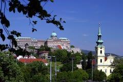 Het paleis van Boedapest Stock Afbeeldingen