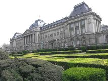 Het paleis van Brussel en de toyal tuin royalty-vrije stock fotografie