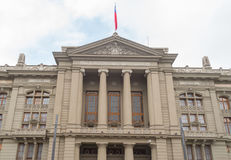 Het Paleis van Chili van Rechtvaardigheid in Santiago Royalty-vrije Stock Foto's