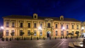 Het Paleis van de aartsbisschop Sevilla, Spanje royalty-vrije stock afbeeldingen