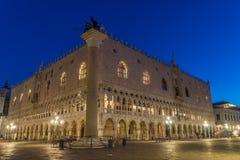Het paleis van de doge in Venetië Stock Afbeeldingen