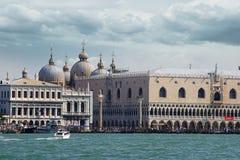 Het Paleis van de doge. Venetië, Italië stock afbeeldingen