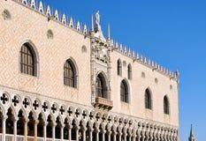 Het Paleis van de Doges van Venetië stock foto